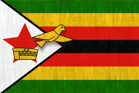 Illustration for free elections in Zimbabwe after nearly 40 years. Stock Photo