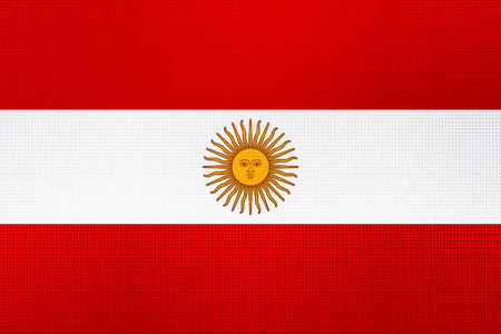 Illustration for Argentine Peso currency plummeting into the red. Stock Photo