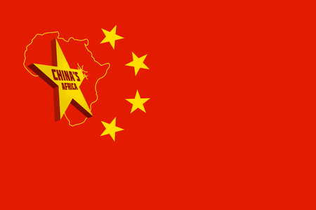 3D rendering idea for Chinese investment dominance in Africa. Stock Photo