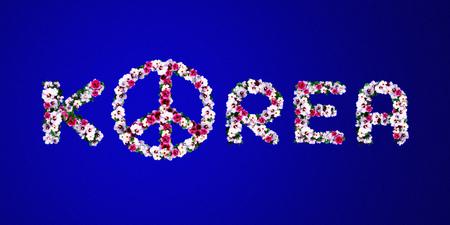 3D rendering idea for peace in the Korean Peninsula. Stock Photo