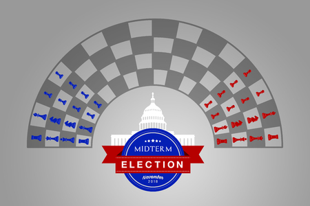 Illustration idea for the November 2018 US Midterm Election. Zdjęcie Seryjne