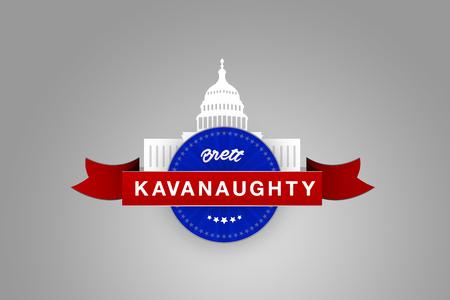 WASHINGTON, UNITED STATES, 27 September 2018 - Illustration idea for sexual harassment allegations against Brett Kavanaugh.