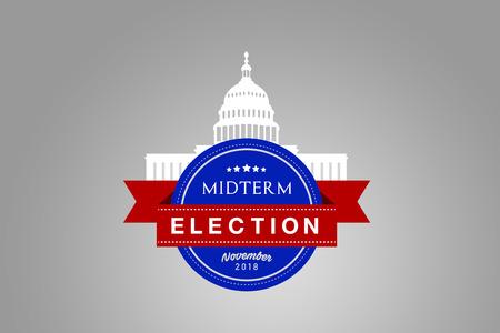 Illustration idea for the November 2018 US Midterm Election. Stock Photo
