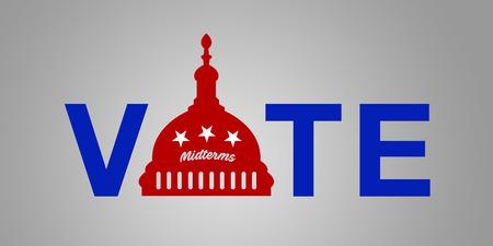 Illustration idea for the 2018 US Midterm Election - Vote Republican.