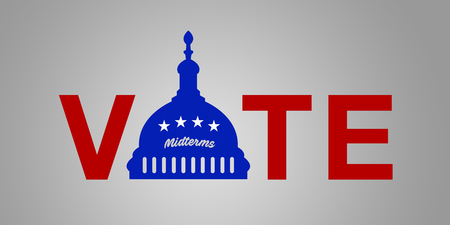 Illustration idea for the 2018 US Midterm Election - Vote Democrat.