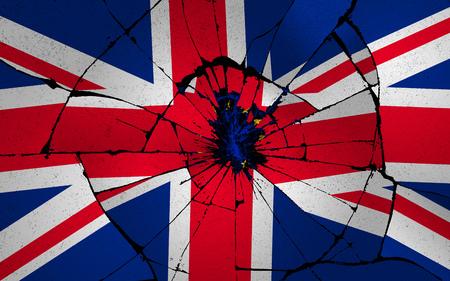 Illustration idea for Britain broken by Brexit.