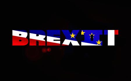 Illustration idea for second UK Brexit referendum. 版權商用圖片
