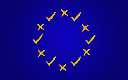 Illustration idea for voting in the second UK Brexit referendum.