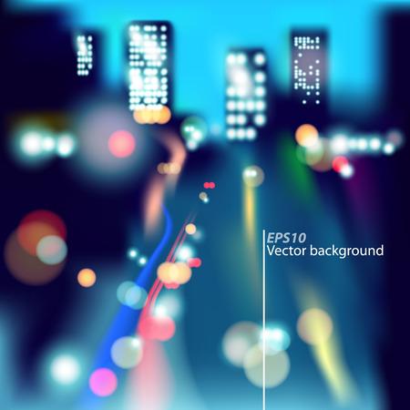 Night City Background Illustration