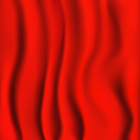 satiny cloth: Red Cloth. Fabric Texture Background.  Illustration