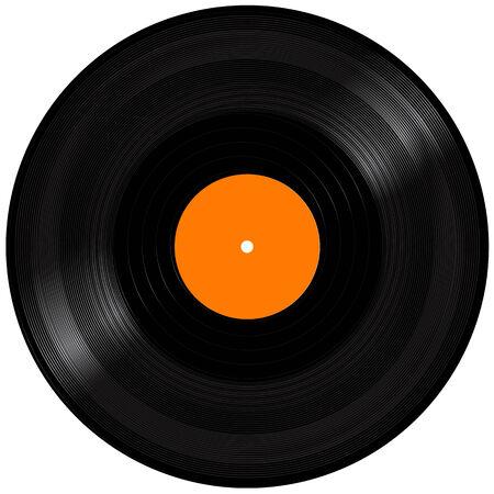 Black Vinyl Record Disc. Realistic Vector Illustration Vector
