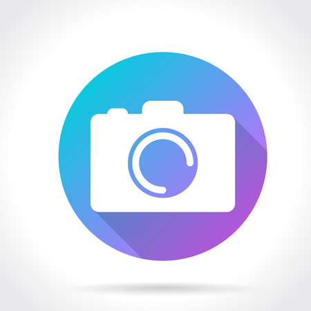 Flat Long Shadow Icon Of Photo Camera Vector