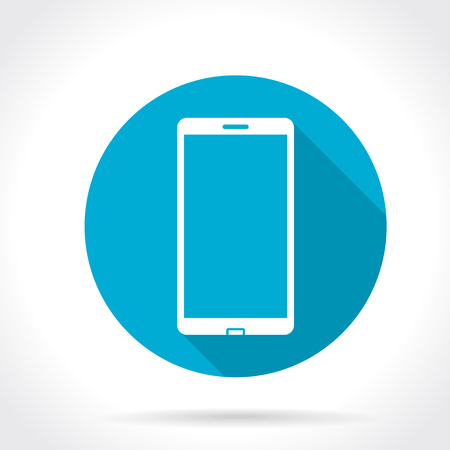 Flat Long Shadow Icon Of Smartphone Vector