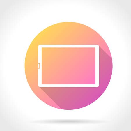 Flat Long Shadow Icon Of Tablet Computer Vector