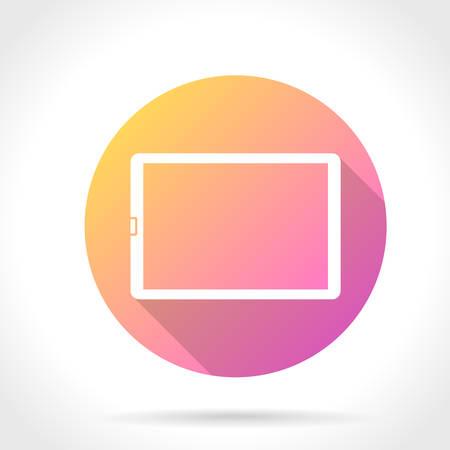 computador tablet: Flat Long Shadow Icon Of Tablet Computer Ilustração