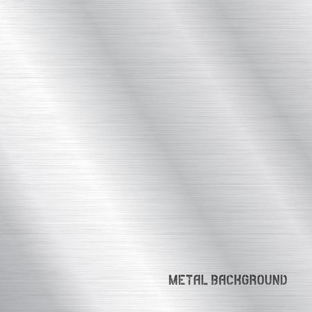 brushed aluminum: Vector Metal Background Texture Illustration