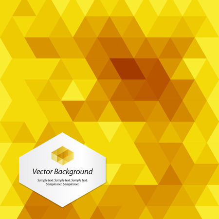 geometric background: Yellow Abstract Geometrical Background