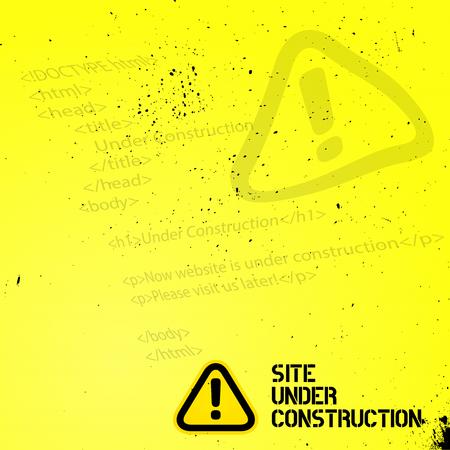 Website Under Construction Design Template 向量圖像