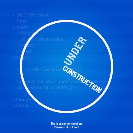 technical background: Website Under Construction Design Template Illustration