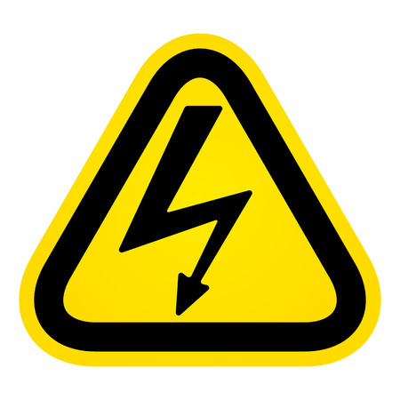 high voltage sign: Hazard High Voltage Sign Illustration