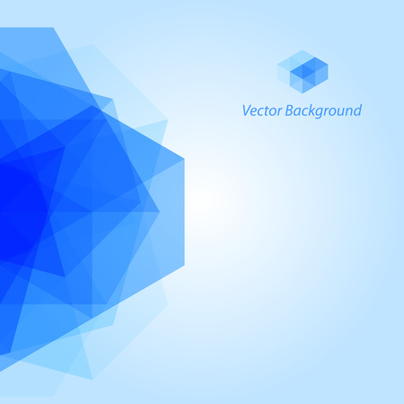 modern building: Blue Abstract Geometrical Background Illustration