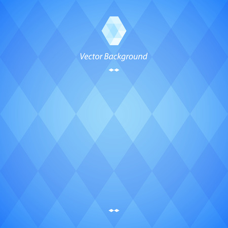Blue Abstract Geometrical Background Illustration