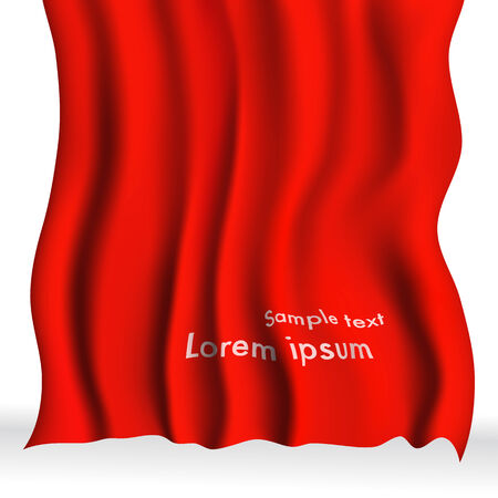 satiny cloth: Red Cloth Background