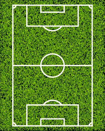 soccer field grass: Realistic Textured Grass Soccer Field Illustration