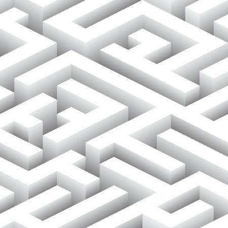 Endless Labyrinth. Seamless Background Pattern