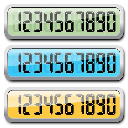 4 3 display: Set Of Digital Numbers