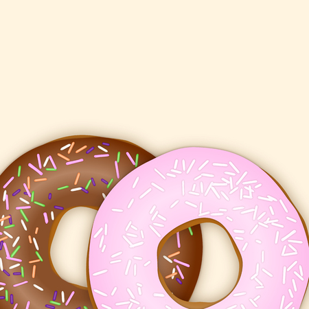 Baked Donuts. Vector Illustration Vector