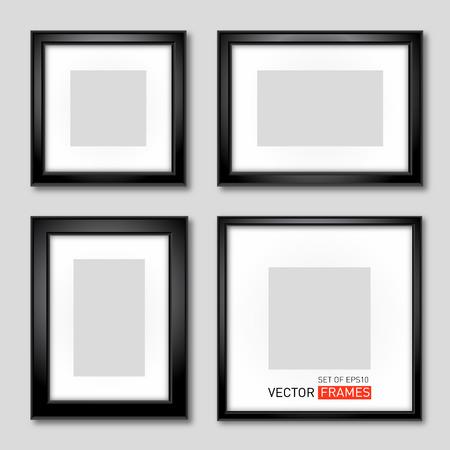 marco madera: Conjunto De Negro Marcos fotográficos