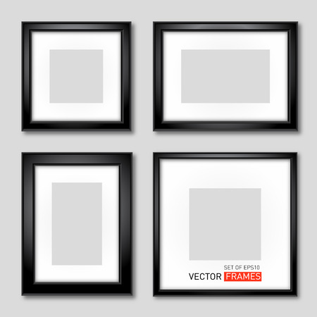 background picture: Set Of Black Picture Frames