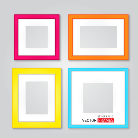 Set Of Colorful Picture Frames Vector