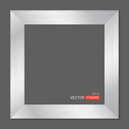 Silver Metal Frame Vector