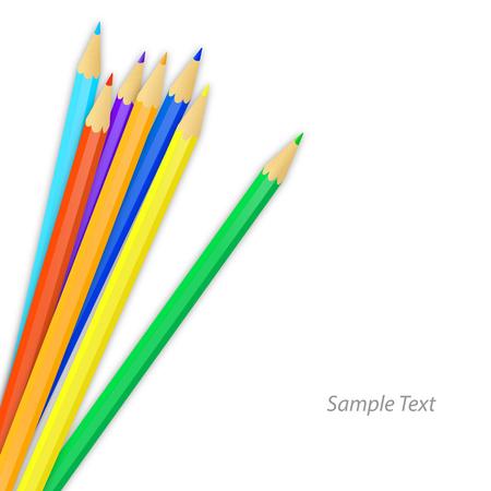 colored pencils: Colored pencils. Vector illustration Illustration