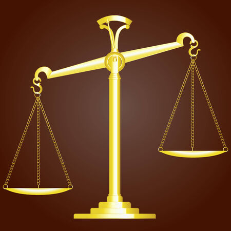 scale of justice: Scale Of Justice. Vector Illustration Illustration