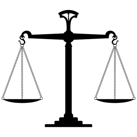 balance scale: Scale Of Justice. Vector Illustration Illustration