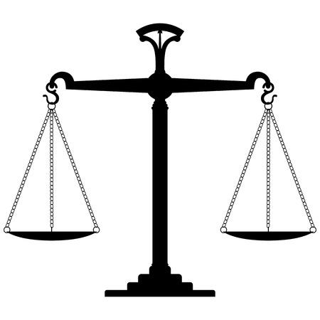 Schaal van Justitie. Vector Illustratie