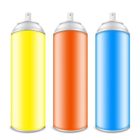 Colorful Cans Of Spray Paint