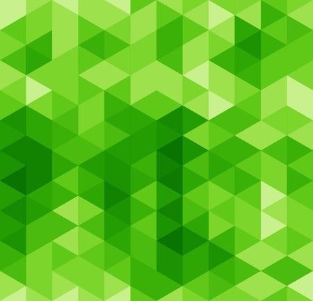 緑色の三角形の抽象的なシームレス パターン  イラスト・ベクター素材