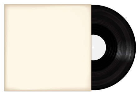 record cover: Vinyl Record With White Cover Illustration