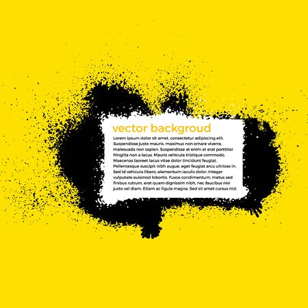 yellow paint: Grunge Splatter Paint Background With Place For Text. Vector Illustration