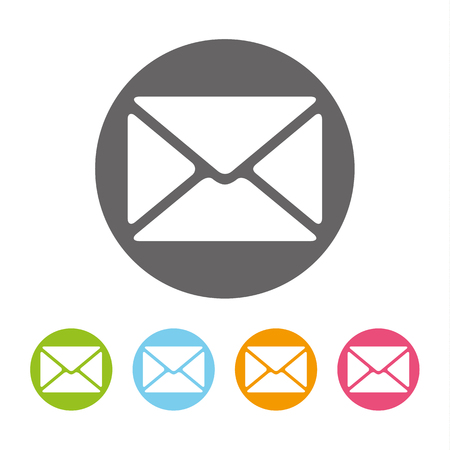envelope: Envelope mail icon vector illustration. Flat design style