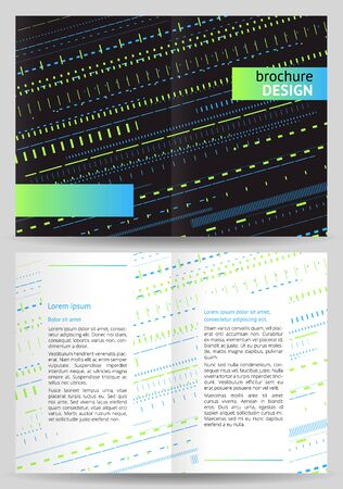 a5: Abstract brochure, booklet vector template for design Illustration