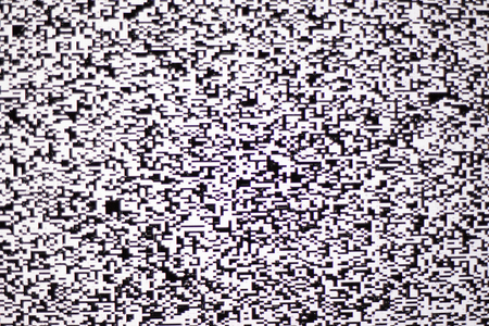 TV white noise on lcd screen. Abstract background Stock Photo