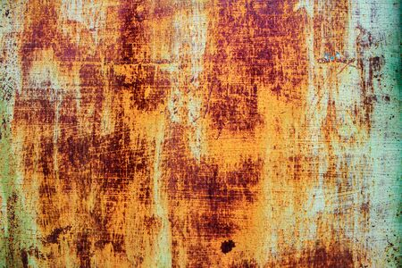 corroded: Abstract corroded colorful rusty metal background, rusty metal texture Stock Photo