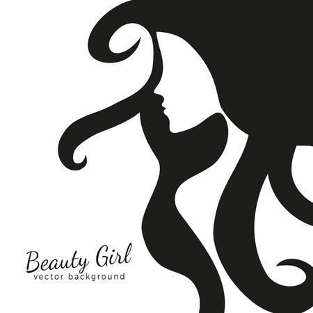beautiful face: Beautiful female face silhouette, womans face silhouette Illustration