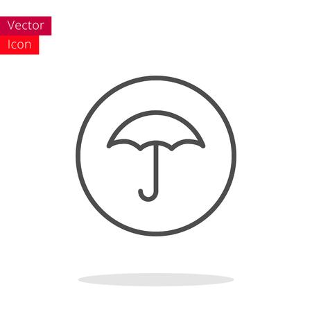 resistant: Umbrella Thin Line Icon. Umbrella Icon in circle. Vector Umbrella Icon. Round Umbrella Icon. Umbrella Icon On white background. Umbrella Icon Illustration.