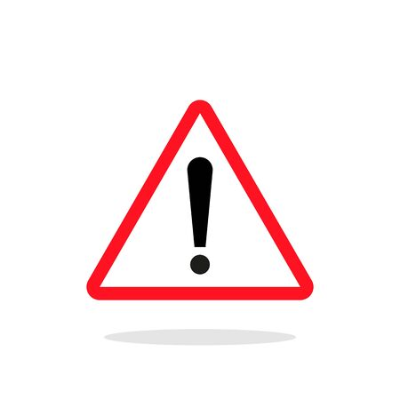 Red triangle attention or warning sign icon